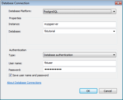 Example of connecting as a nonadministrator user