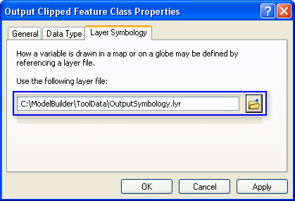 Setting output data symbology