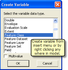 Creating stand alone variable