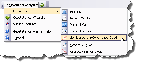 Semivariogram/Covariance Cloud on the Explore Data menu