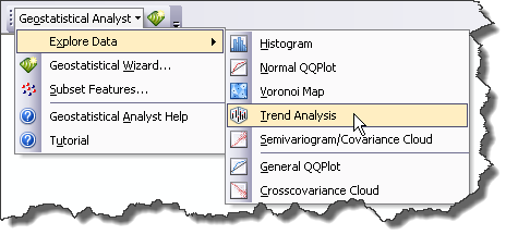 Trend Analysis on the Explore Data menu
