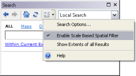 Scale-based spatial search