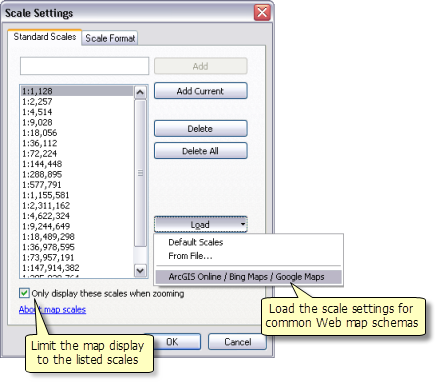 Using the Scale Settings dialog box