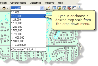 Setting the map scale of your data frame