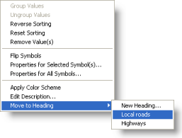 Moving a category value to a new heading