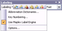Labeling toolbar