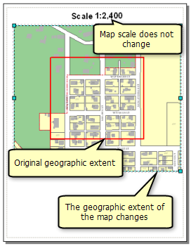 When using fixed scale, you can pan the map and change the data frame extent and the map scale will remain the same.