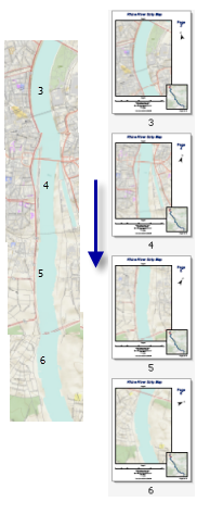 Strip map example ending point