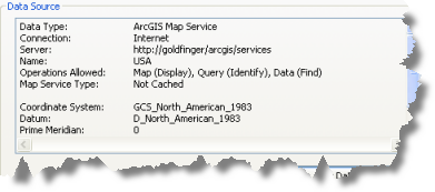 ArcGIS map service data source