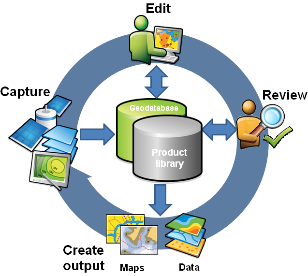 The production workflow supported by