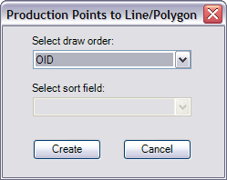 Production Points to Line/Polygon dialog box