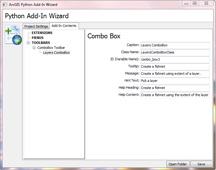 Setting combo box properties in Add-In Wizard