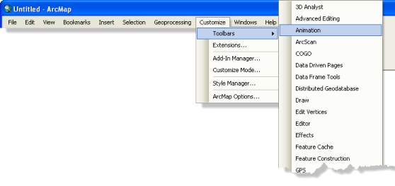 Toolbar activation example