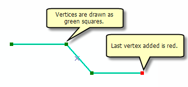 Line sketch showing the last vertex added