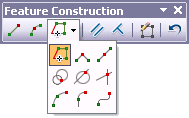 Feature Construction toolbar showing the available construction methods
