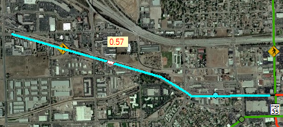 Example of a route event that has been split