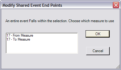 Modify Shared Event End Points dialog box