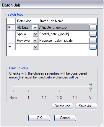 Batch Job dialog box
