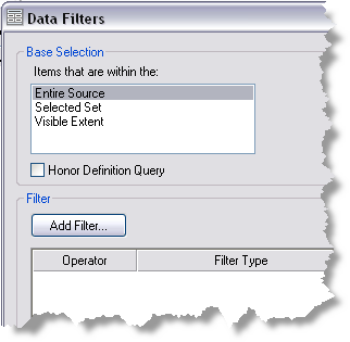 Data Filters dialog box