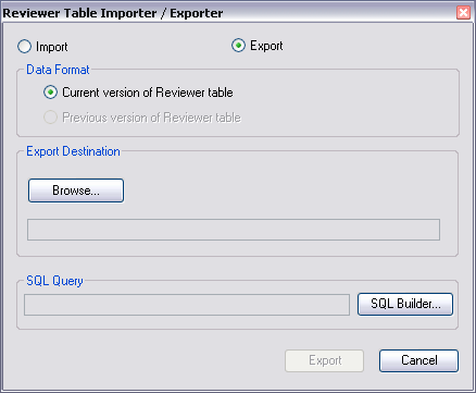Reviewer Table Importer/Exporter