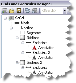 Grids and Graticules Designer window