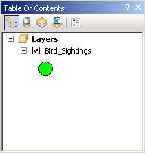 Setting up the symbology of the Bird_Sightings layer