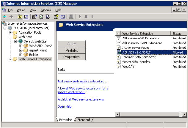 IIS Manager window