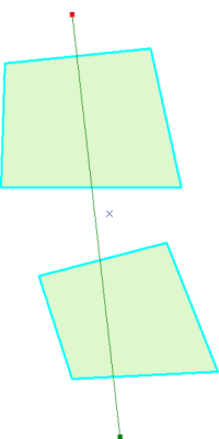 cutting two multi-part polygons using a cutting line