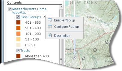 Menú contextual para la subcapa Block Groups