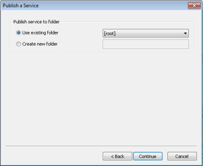 Panel Publicar un servicio, en donde puede elegir la ubicación de salida del servicio